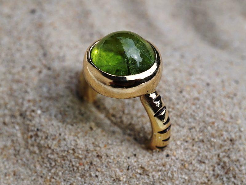 Goldring Farbstein grün Peridot