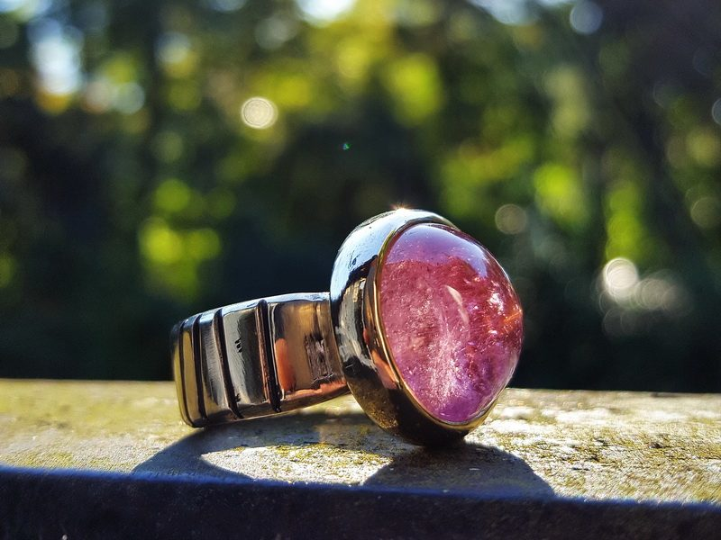 Goldring Turmalin rosa rose rot