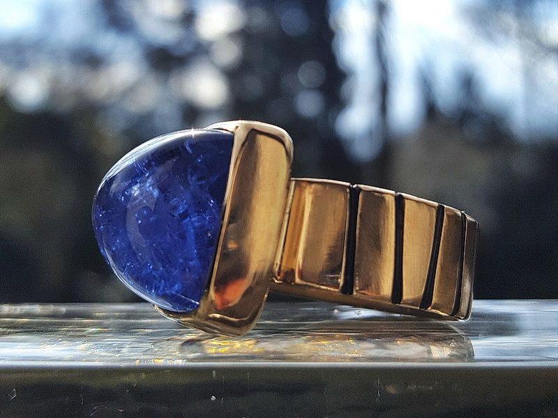 Goldring Tansanit blau